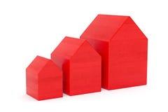 Rode huizen royalty-vrije illustratie