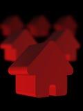 Rode Huizen Stock Fotografie