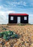Rode Hut op Roggestrand Stock Fotografie