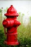 Rode hydrant Stock Afbeelding