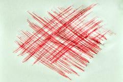 Rode inkt krassende achtergrond Stock Foto's