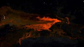 Rode inkt op abstracte donkere achtergrond stock videobeelden