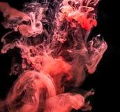 Rode Inkt in water. Royalty-vrije Stock Fotografie