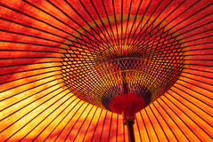 Rode Japanse parasol Stock Foto's
