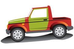 Rode jeep. vector illustratie