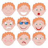 Rode Jongen Emoticon Emoji stock illustratie