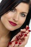 Rode juwelen Stock Fotografie