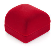 Rode juwelendoos. Royalty-vrije Stock Foto's