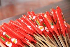 Rode kaarsen Stock Foto's