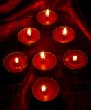 Rode kaarsen Royalty-vrije Stock Foto