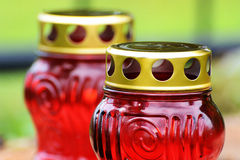 Rode Kaarsen Royalty-vrije Stock Foto's
