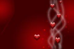 Rode kaart voor de Dag van de Valentijnskaart Stock Fotografie