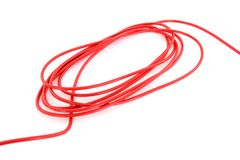 Rode kabel Royalty-vrije Stock Afbeelding