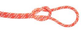 Rode kabelknoop met lijn Stock Fotografie