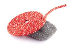 Rode kabelspiraal Stock Afbeelding