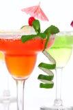 Rode kalk, de cocktailssamenstelling van appelMargaritas Stock Afbeeldingen