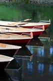 Rode kano's Stock Foto