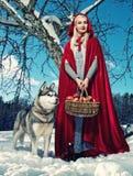 Rode kap   royalty-vrije stock afbeeldingen
