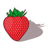 Rode kartoonaardbeien. Stock Afbeeldingen