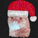 Rode kat met Kerstmishoed stock illustratie
