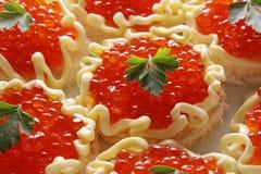 Rode kaviaar. Royalty-vrije Stock Fotografie