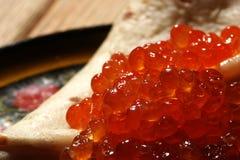 Rode kaviaar royalty-vrije stock afbeelding