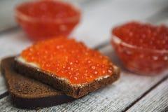 Rode kaviaar Stock Foto