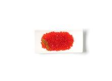 Rode kaviaar met dille Stock Foto