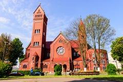 Rode kerk Stock Afbeeldingen