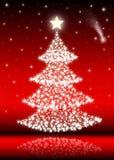 (Rode) kerstboom Stock Afbeelding