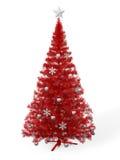 Rode Kerstboom Stock Afbeelding