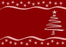 Rode Kerstkaart Royalty-vrije Stock Foto's