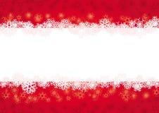 Rode Kerstkaart Royalty-vrije Stock Afbeeldingen