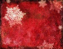 Rode Kerstkaart Stock Afbeelding