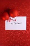 Rode Kerstkaart Royalty-vrije Stock Afbeelding