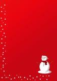 Rode Kerstkaart stock illustratie