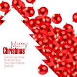 Rode Kerstmis glas-ballen Stock Afbeelding