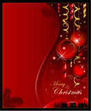 Rode Kerstmisachtergrond Royalty-vrije Stock Afbeelding