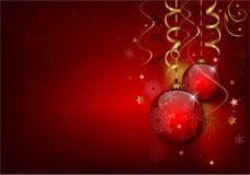 Rode Kerstmisachtergrond stock illustratie