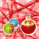 Rode Kerstmisachtergrond Royalty-vrije Stock Afbeeldingen