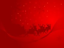 Rode Kerstmisachtergrond Stock Fotografie