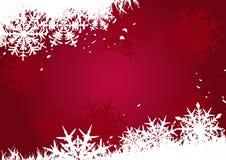 Rode Kerstmisachtergrond Stock Afbeelding