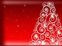 Rode Kerstmisachtergrond De achtergrond van het nieuwjaar Stock Foto