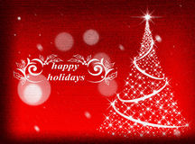 Rode Kerstmisachtergrond De achtergrond van het nieuwjaar Stock Foto's