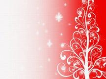 Rode Kerstmisachtergrond De achtergrond van het nieuwjaar Royalty-vrije Stock Foto's