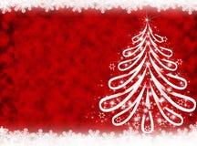 Rode Kerstmisachtergrond De achtergrond van het nieuwjaar Royalty-vrije Stock Afbeeldingen