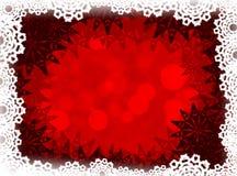Rode Kerstmisachtergrond De achtergrond van het nieuwjaar Stock Afbeeldingen