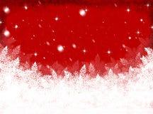 Rode Kerstmisachtergrond De achtergrond van het nieuwjaar Royalty-vrije Stock Fotografie