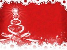 Rode Kerstmisachtergrond De achtergrond van het nieuwjaar Stock Fotografie