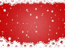 Rode Kerstmisachtergrond De achtergrond van het nieuwjaar Stock Afbeelding